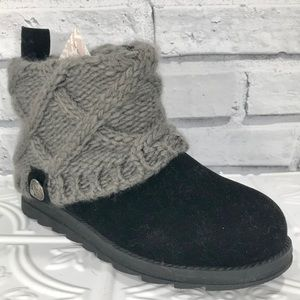 MUCK LUKS Sweater Knit Cuffed Pull On Ankle Boots